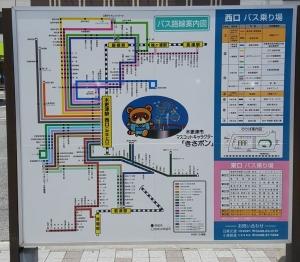 木更津駅バス案内板