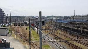 木更津駅跨線橋から見た線路