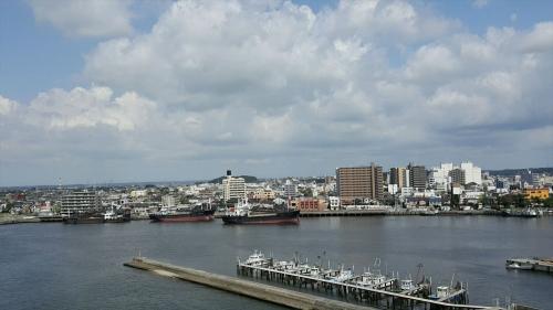 中の島大橋から見た木更津の街