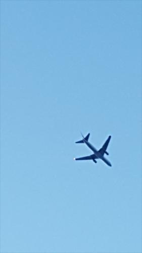 木更津上空の飛行機