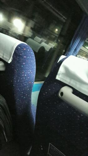 倒されたままの座席