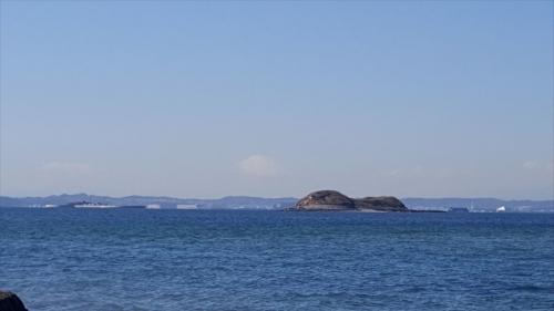 富津岬から見た富士山