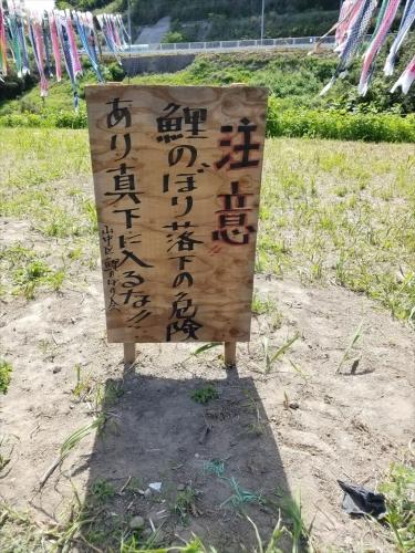 中川橋こいのぼり_安全看板
