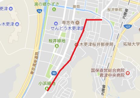 桜井祭礼通行止め地図