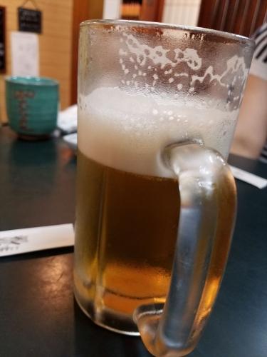 魚まさ_生ビール