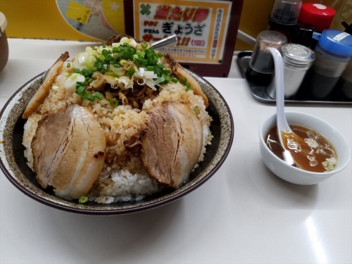 活力亭_チャーシュー丼大盛3