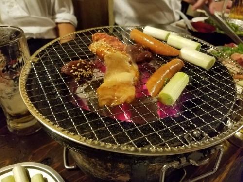 大阪ホルモン_七輪