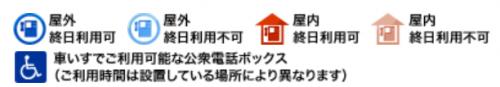 公衆電話マップ_凡例