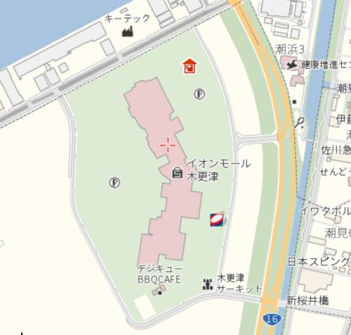 公衆電話マップ_イオンモール木更津周辺