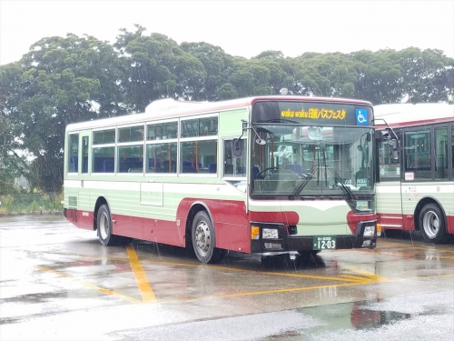 日東バスフェスタ_洗車機体験バス2