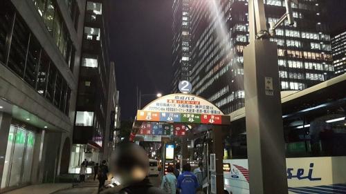東京駅バス乗り場201606