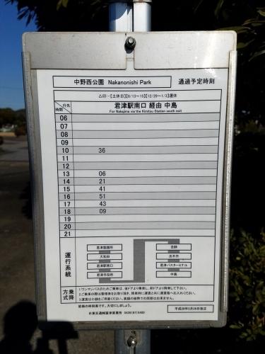中野西公園_時刻表