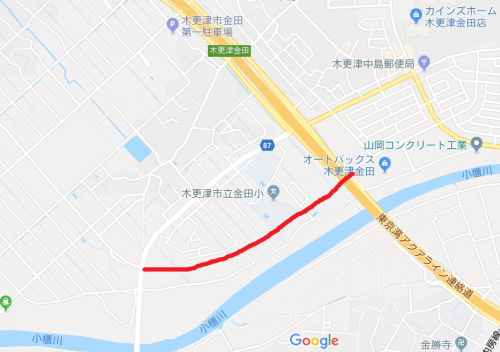 金田1号線場所