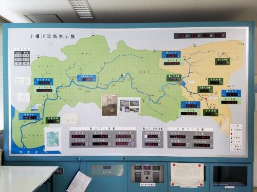亀山ダム_流域表示盤