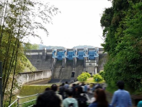 亀山ダムウオッチング_ダムへの坂
