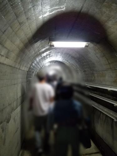 亀山ダムウオッチング_ダム下トンネル
