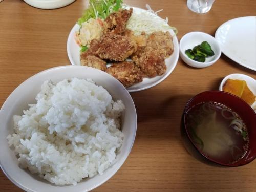 山奈食堂_から揚げ定食
