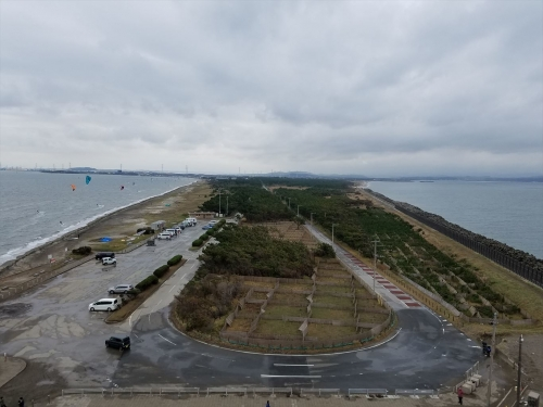 富津岬展望塔_千葉県方向の景色
