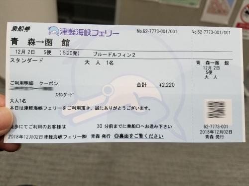 津軽海峡フェリー_乗船券