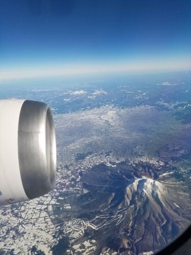 空からの岩木山